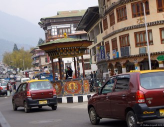 The ONLY traffic 'signal' in Bhutan, on Norzin Lam in Thimpu!