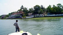 Heading to the hotel jetty from where we embarked on the tour