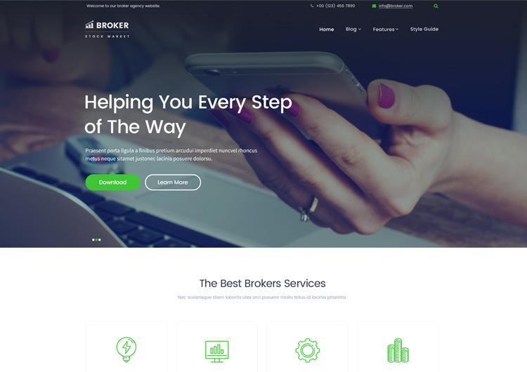Most support dei, but don't know how to implement it. Financial Services Website Templates Free Download Ease Template