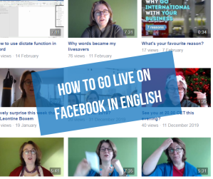 how to go live on Facebook in English