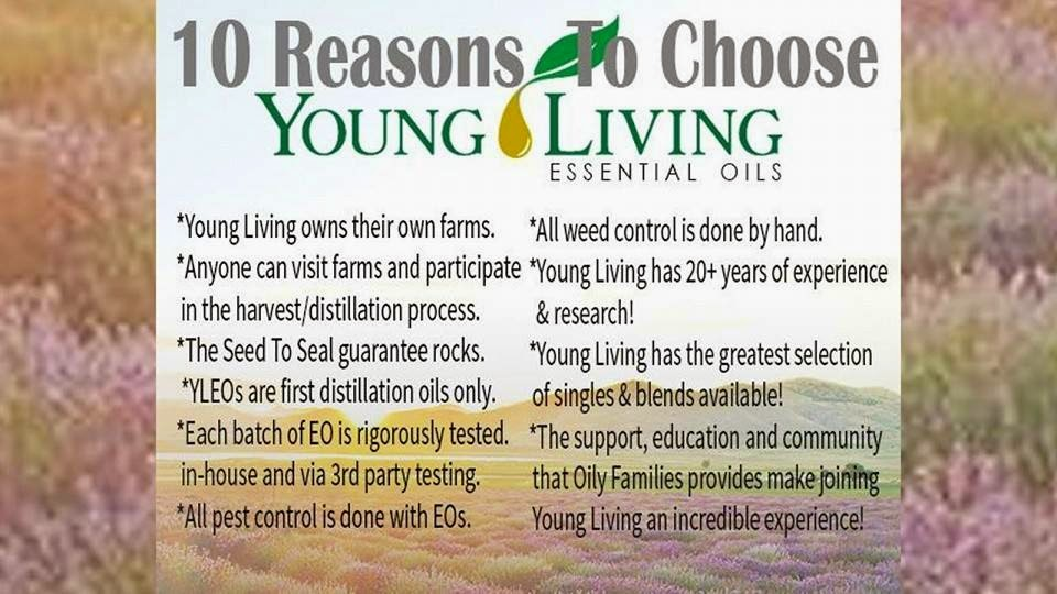 10 Reasons To Choose Young Living Essential Oils
