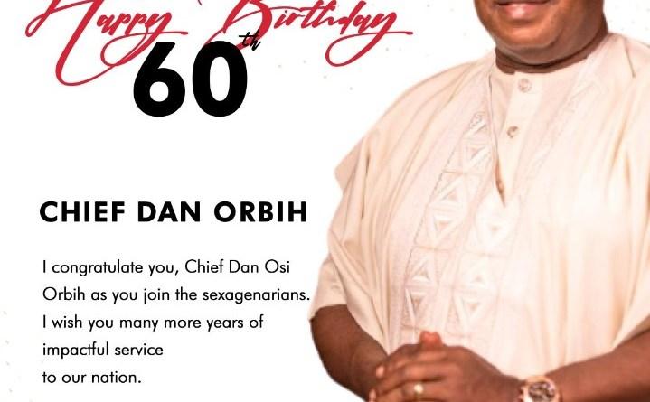 Obaseki felicitates with Dan Orbih at 60