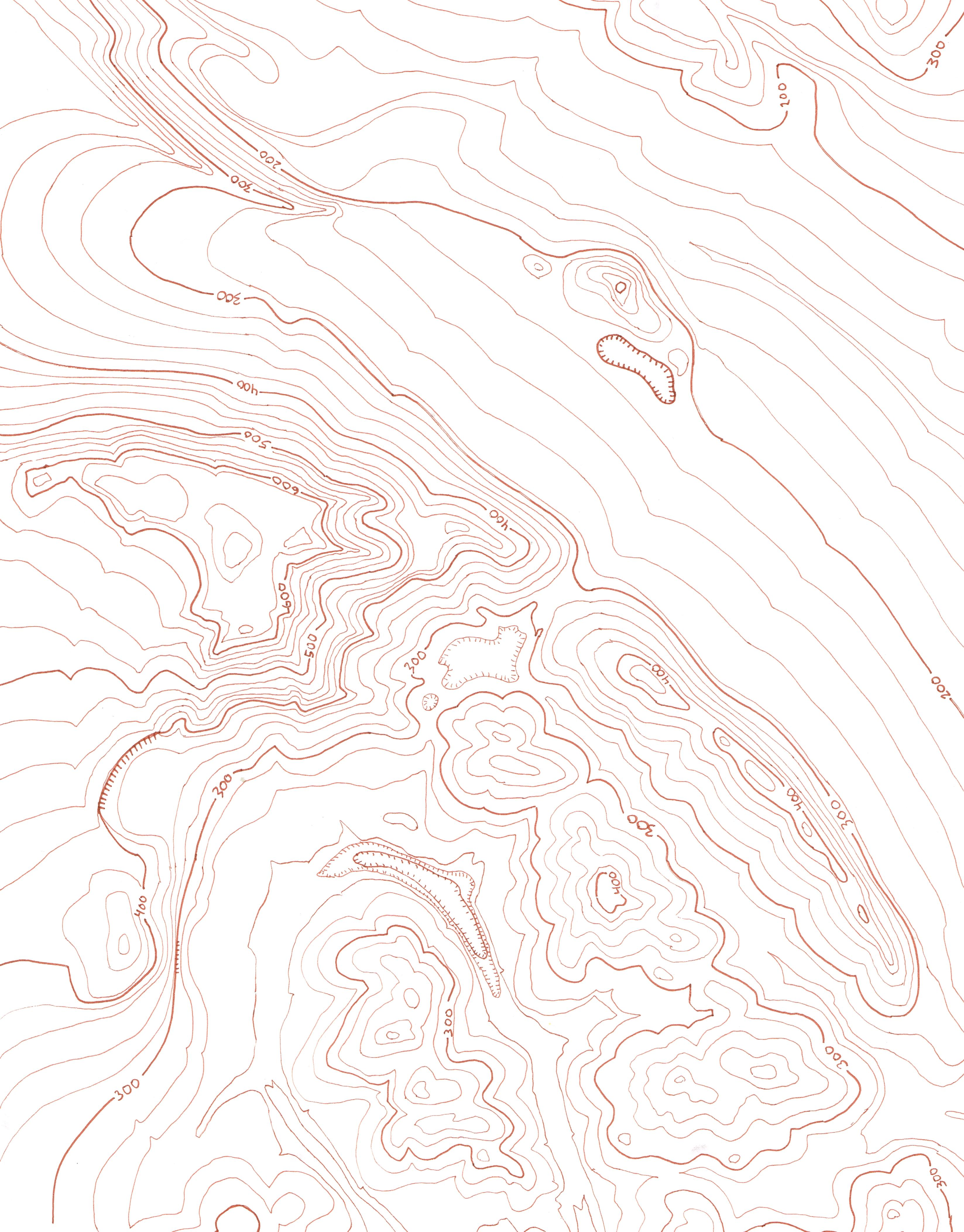 Hand Drawn Topographic Maps