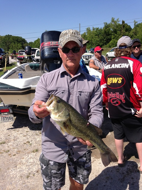Mike Achord with Big Bass at 4.25 lbs.