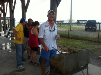 SWC Vince Jr frying fish