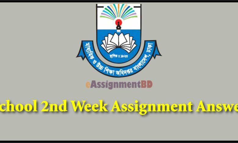 2nd Week Assignment Answer
