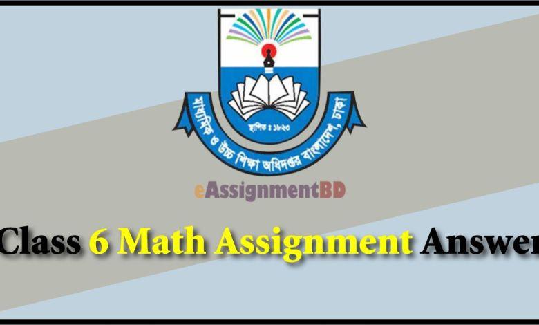 Class 6 Math Assignment