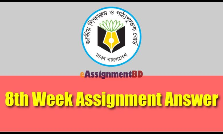 8th Week Assignment