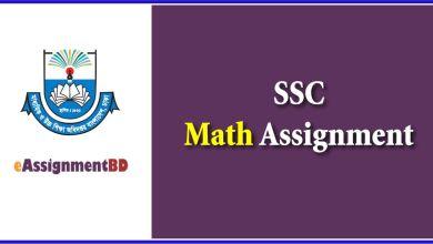 SSC math assignment