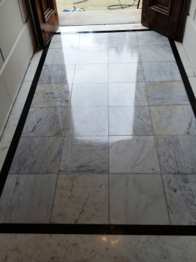 Marble Tiled Enterance Congleton After Cleaning
