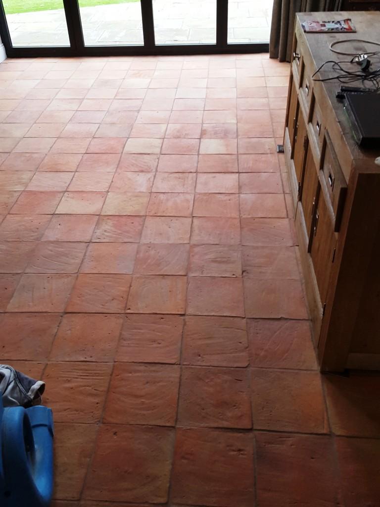 sealing porous spanish terracotta tiles