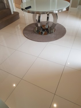 Porcelain Tile Before Grout Colouring Grey to Ivory in Nether Alderley