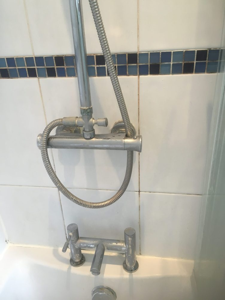 Bathroom Shower Tile Before Cleaning Handforth