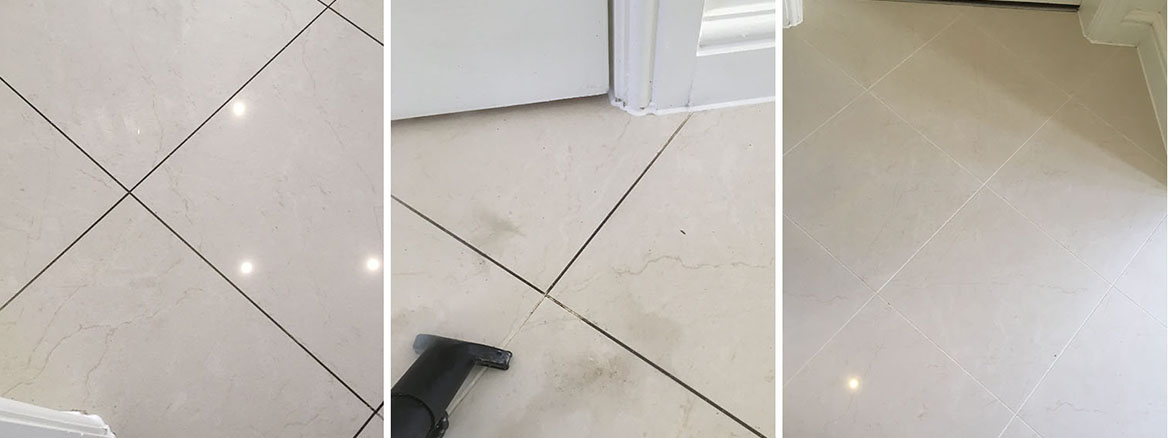 White Grout Cleaned and Sealed in Wilmslow