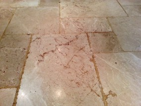 Limestone Tile Before