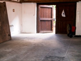 Slate Floor in Beckley Barn Before