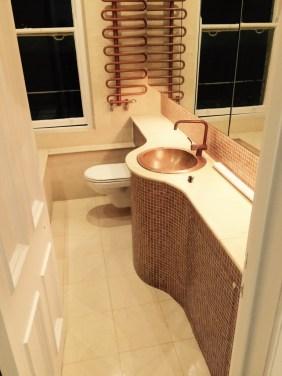 Brighton Luxury Flat Limestone Bathroom After Cleaning