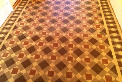 Victorian Tiled Floor Before Cleaning Heathfield
