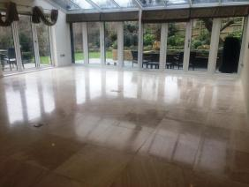 Polished Limestone Floor After Being Maintained in Uckfield
