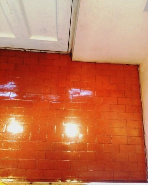 Quarry Tiled Floor After Cleaning Eastbourne