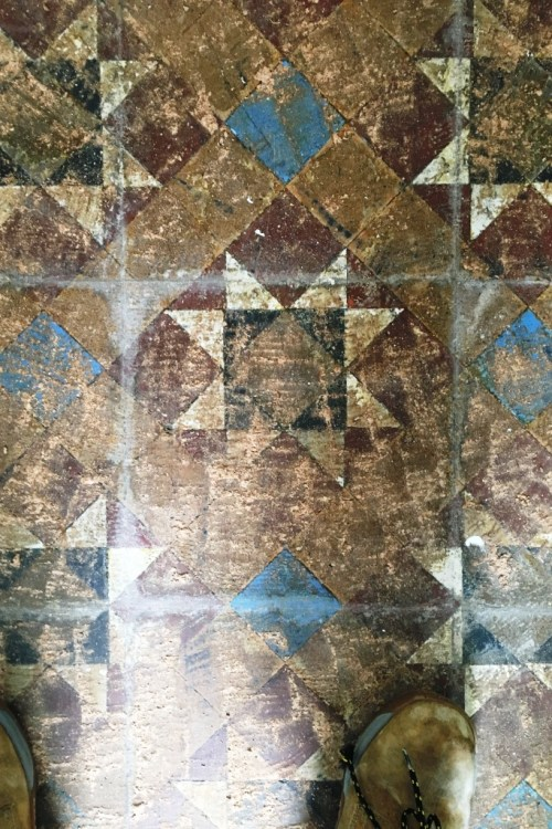 Victorian Tiled Hallway Floor Before Restoration Hove