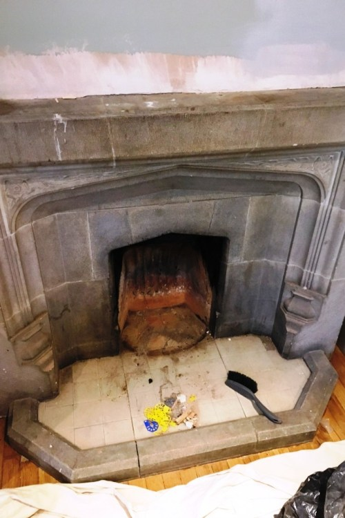 Restorative Cleaning Of A Stone Fireplace In Brighton East Sussex