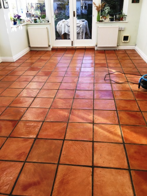 Terracotta Floor After Cleaning Brighton