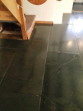 Green Slate Tiled Floor After Cleaning Hastings