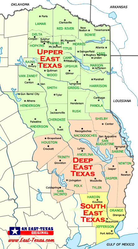 Road Map Of East Texas : texas, Texas, Maps,, Counties,, Counties