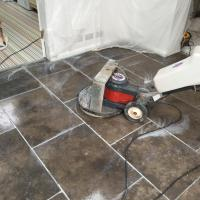 Grey Limestone tiled floor Polished and Sealed in Barton ...