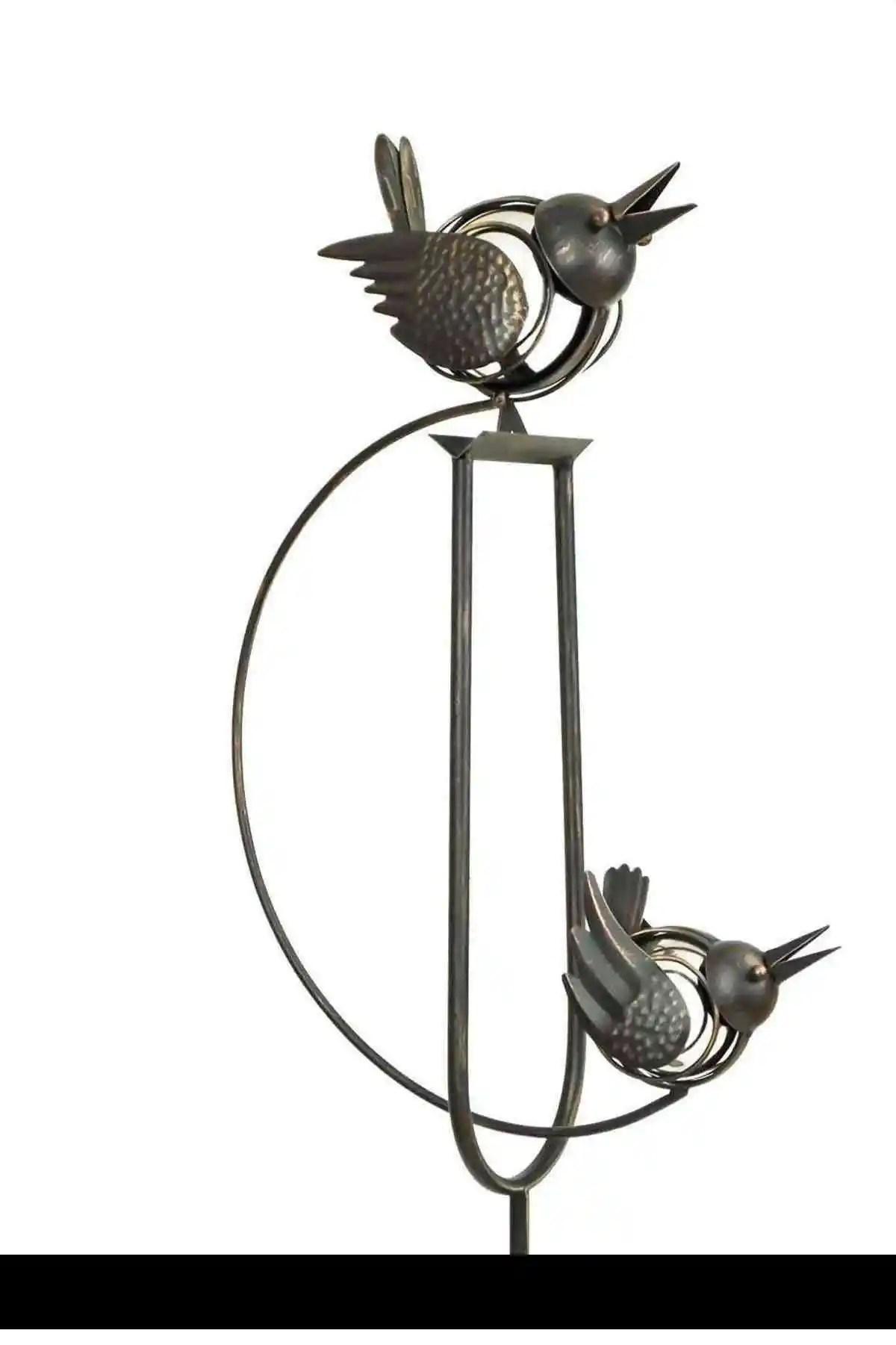 Rocking Balancing Big Love Birds Metal Garden Wind Spinner