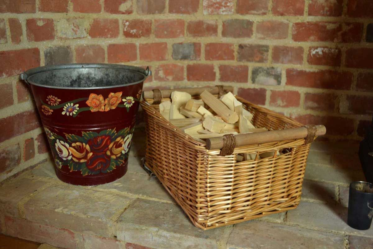 kitchen basket storage cooktops honey wicker willow display with