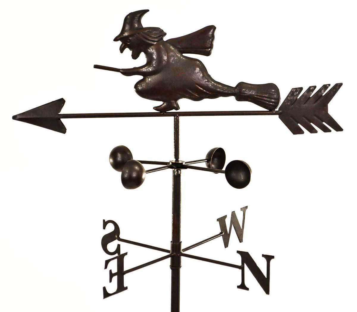 kitchen cupboard gadgets countertop decor dark metal witch wind weathervane weather vane garden ...