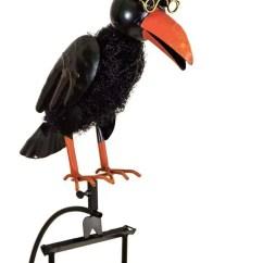 Kitchen Cupboard Gadgets Beach Decor Rocking Balancing Black Dad & Baby Crow Metal Garden Wind ...