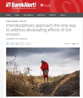 EurekAlert.org: Interdisciplinary approach the only way to address devastating effects of soil erosion