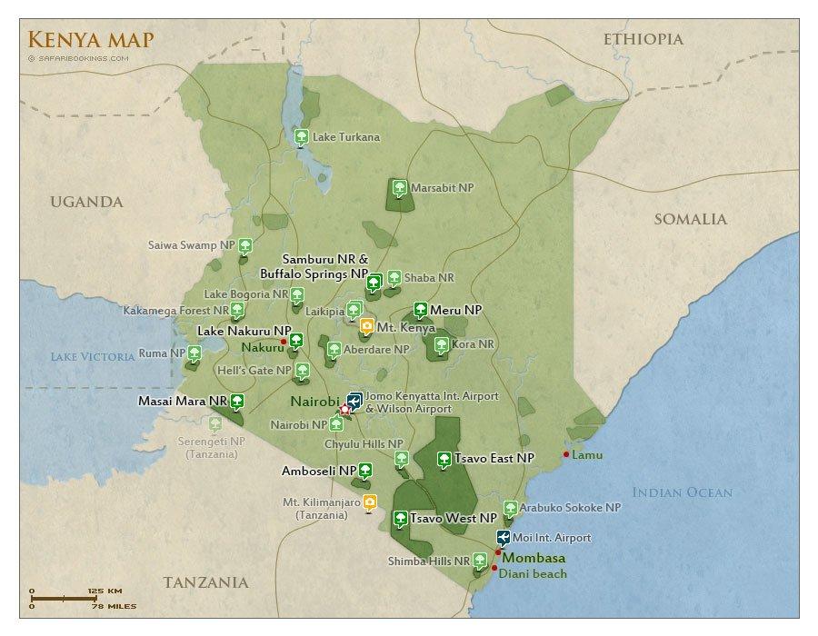 map of Kenya destinations