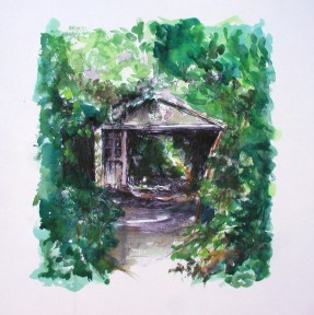 At Home with Nature. Watercolour by Lesley Rumble