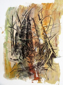 Green Tangle. Watercolour by Beverly Hughes