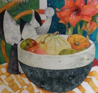 The Daniel Smith Award for best use of colour: The Fruit Bowl by Patricia Stoten