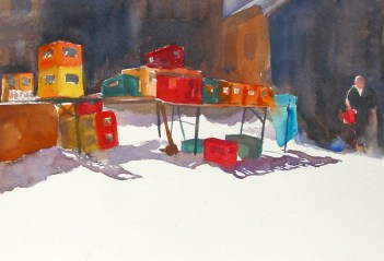 Tindalls award - Beer Boxes, Ski Resort by Sue Lees
