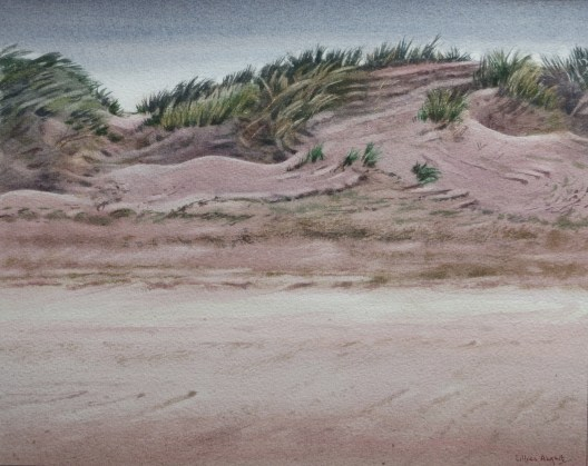 Dunes. Watercolour by Lillias August ©