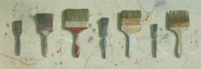 Seven brushes. Watercolour - Lillias August ©