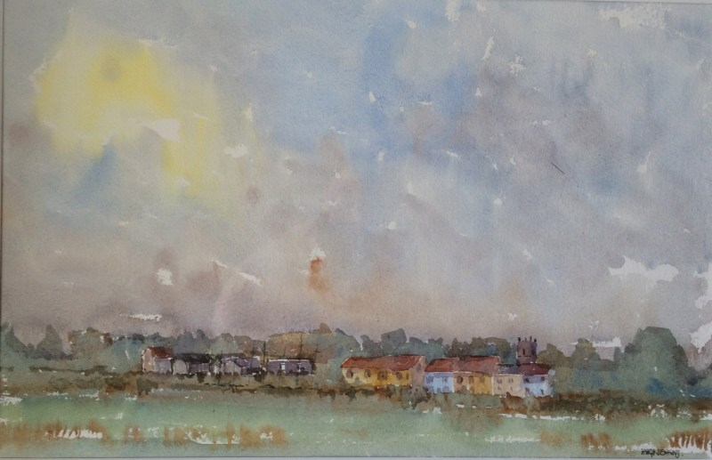 Walberswick across the estuary by Hugh Jenkins