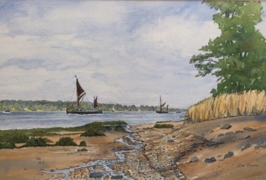 Barges Approaching Pin Mill by Rita Browne