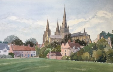 Lichfield Cathedral by Rita Browne