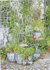 Blue and white pots by Fran Godwood