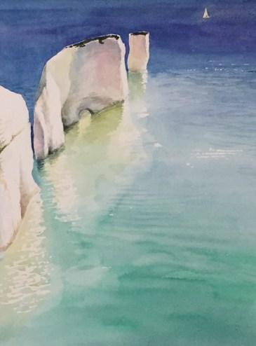 Old Harry Rocks by Tony Hatt