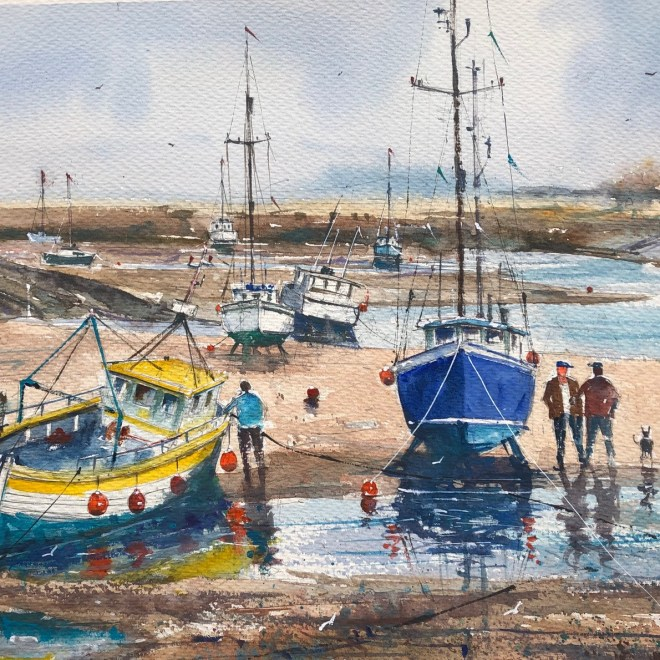 Beached Boats at Wells by Surinder Beerh
