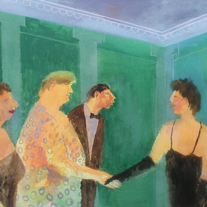 Recepton Line in the Green Room by Richard Sorrell