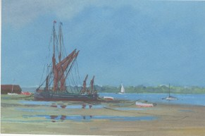 *SOLD* Barges on the Mud by Anthony Osler